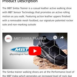 MBT Shoes - MBT exercise tennis shoes